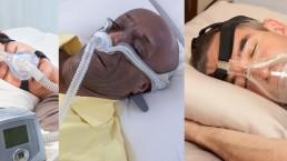men using different CPAP masks